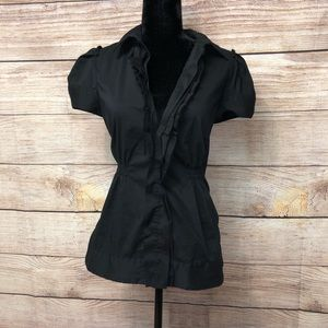 Tops - BCBGMAXAZRIA Front Button Short Sleeve Blouse